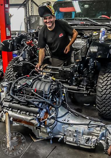 jeep modif v8