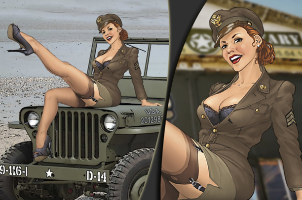 pinup-jeep