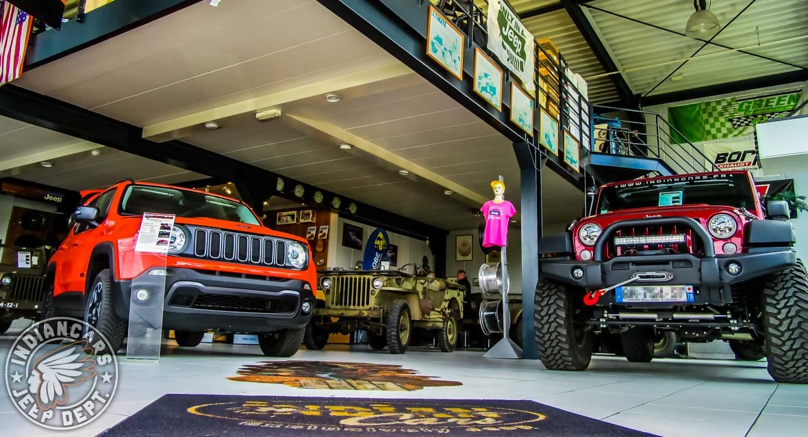 Show room jeep