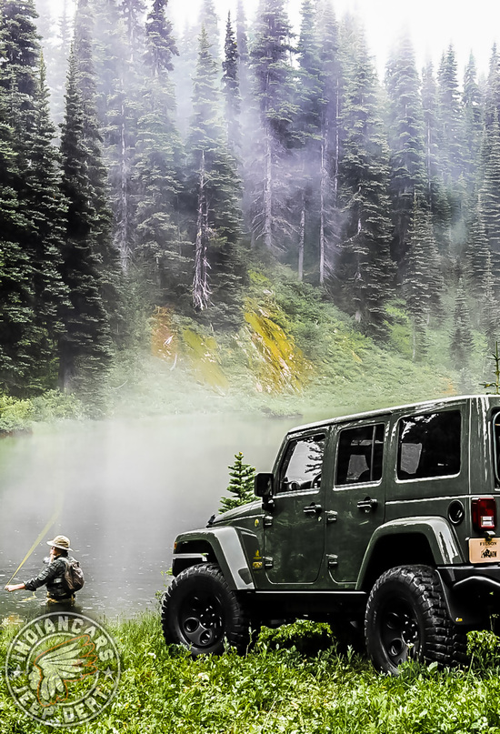 Jeep offroad forest